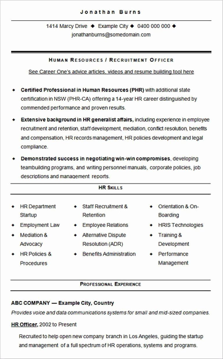 Human Resource Generalist Resume Elegant 10 11 Hr Generalist Job Description Sample Human Resources Resume Sample Resume Templates Hr Resume