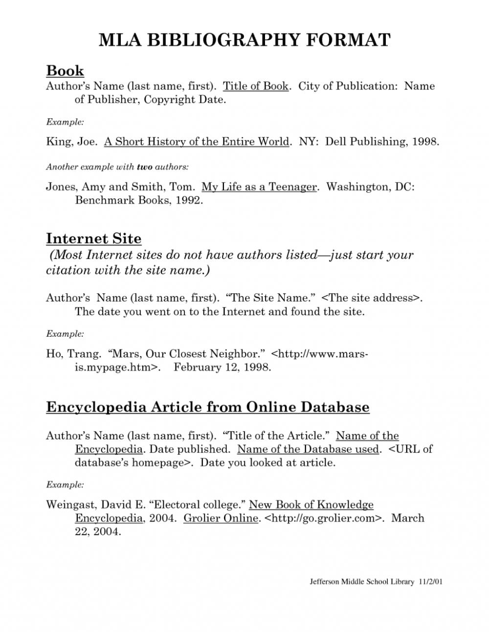 Dissertation Mla Format Bibliography Writing A Bibliography Essay Examples Mla Format