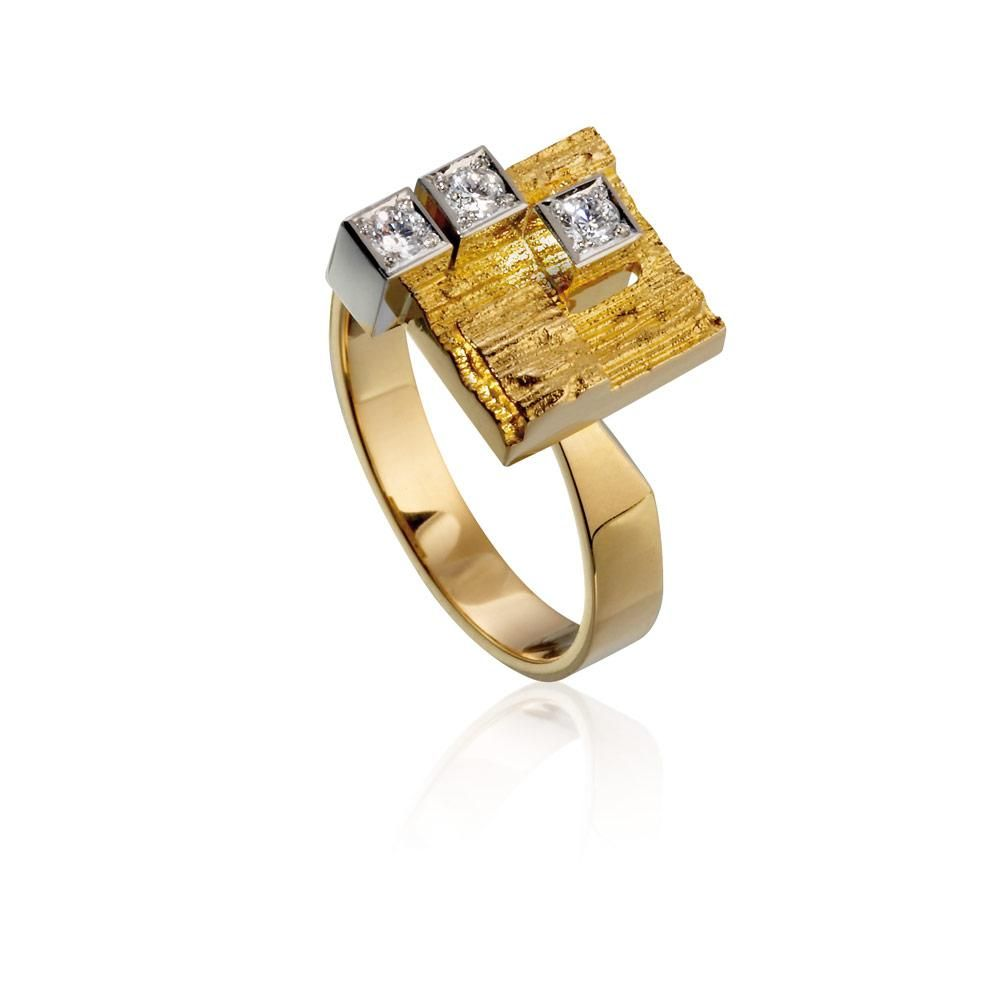 """Björn Weckström for Lapponia Jewelry ~""""Diamond City"""", 18k gold and diamonds.   Lapponia.com"""