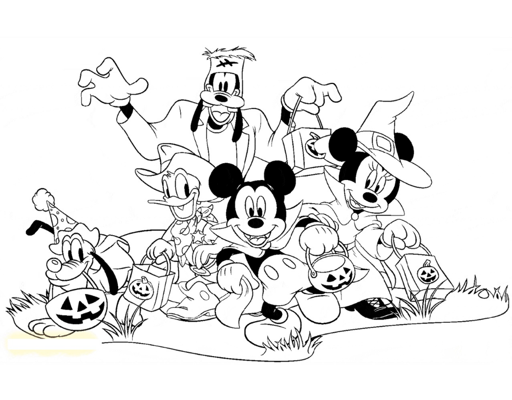 Mickey Mouse Donald Duck Halloween Coloring Pages K5 Worksheets Mickey Mouse Coloring Pages Halloween Coloring Halloween Coloring Pages