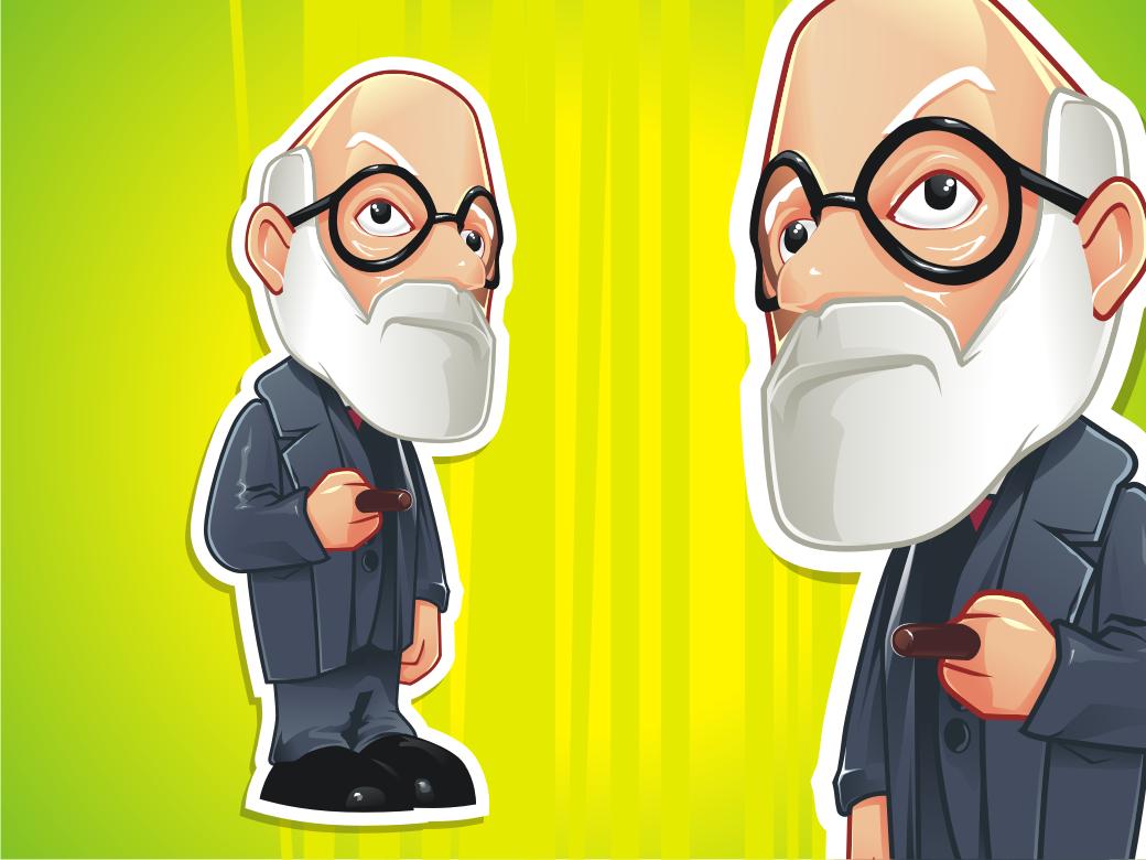 A nice vector illustration of FCTRY's Sigmund Freud Little ...