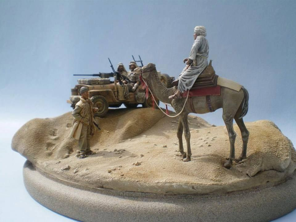 British SAS jeep and camel rider in North Africa----Pinnacle Scale Models