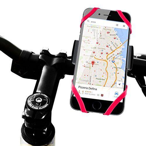 Bike Mount Bicycle Holder, XNER Universal Rubber Strap Cradle Holder for iPhone…