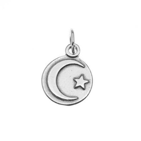 Amazon.com - Sterling Silver Charm Circle With Star and ...