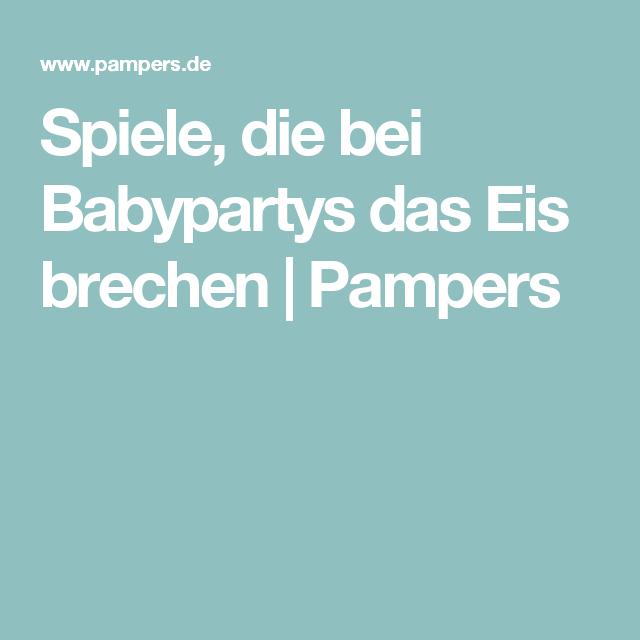 Spiele, die bei Babypartys das Eis brechen | Pampers