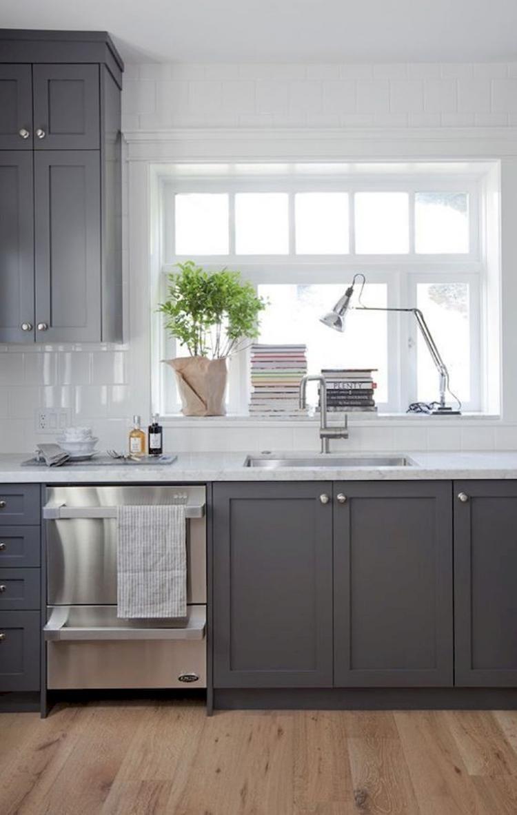 Admirable gray kitchen cabinet design ideas home decor and