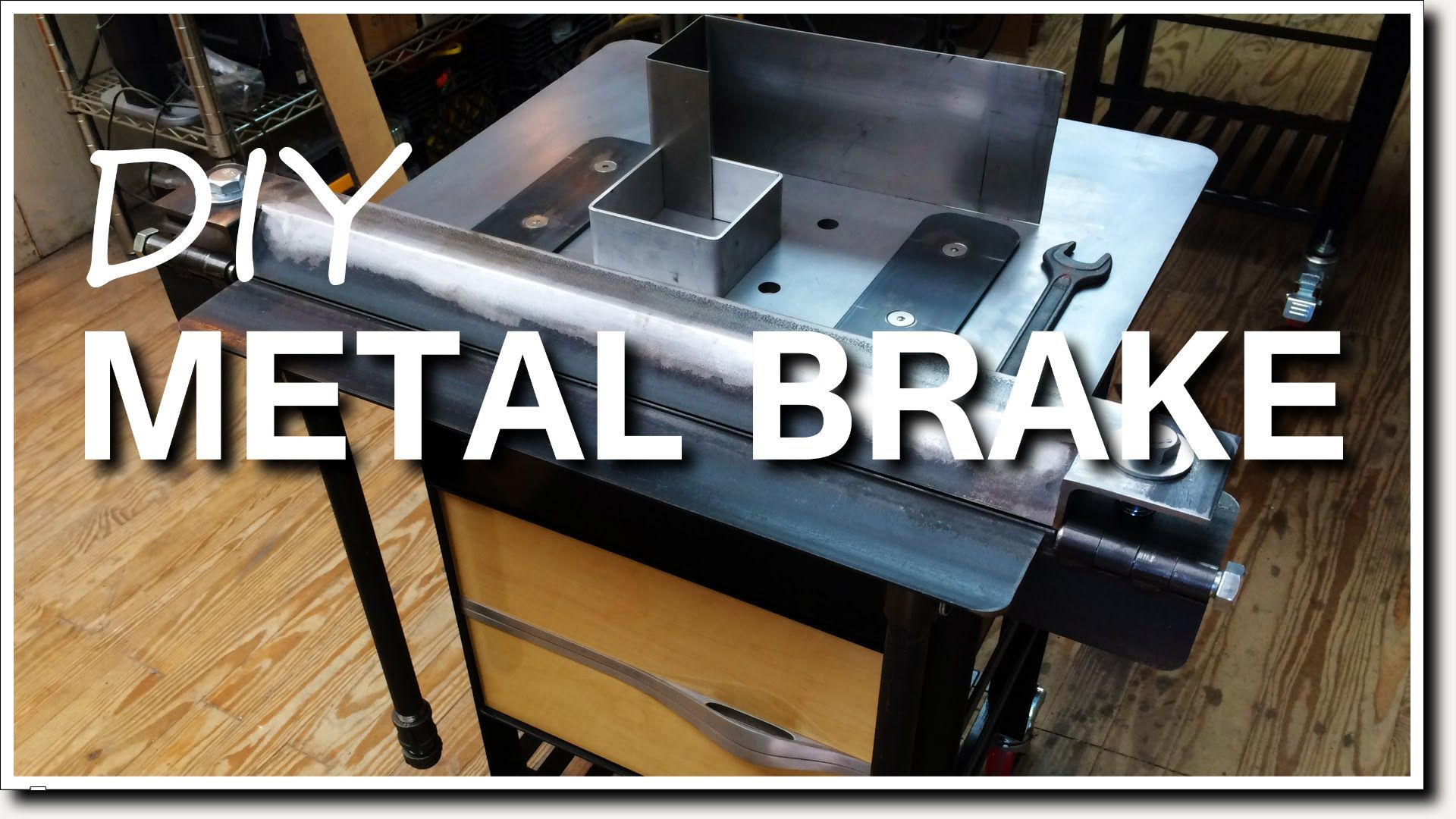In A Previous Video I Built My Own Mobile Welding Tables For One Of The Parts I Wanted To Bend A 16 Gauge Sheet Of Metal For A Sheet Metal