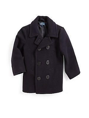 211f9642df6e Ralph Lauren Toddler s   Little Boy s Wool Naval Peacoat