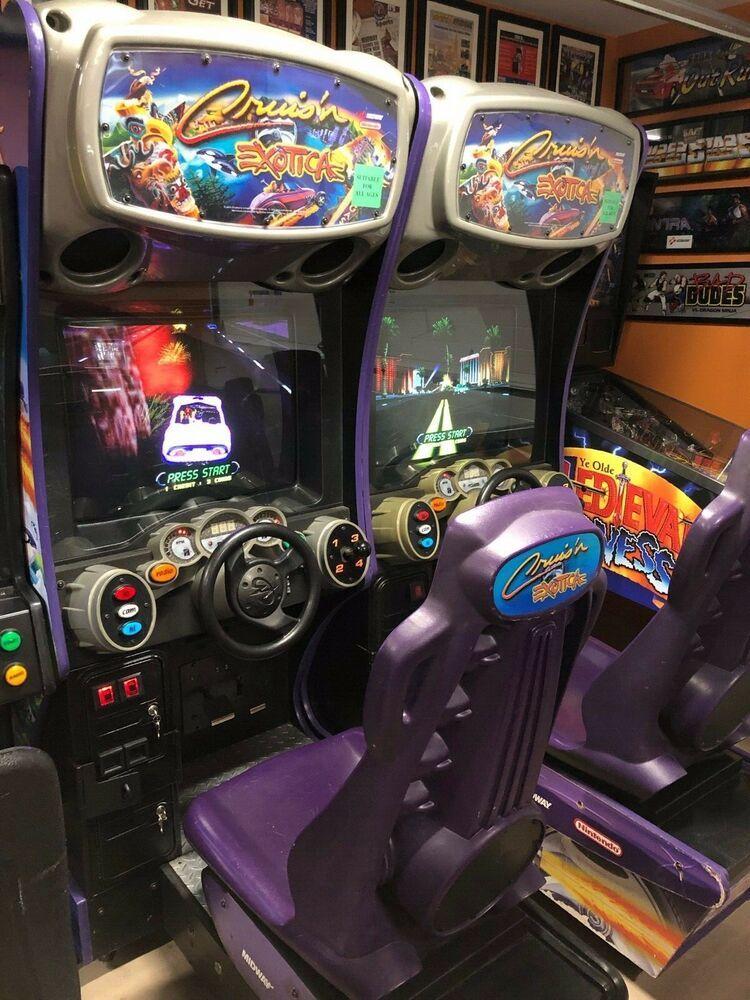eBay #Sponsored Cruis'n Exotica 2 Linked Pair Arcade Machine CRT 27