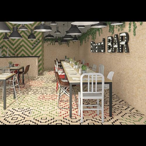 Panneau Mural Salle De Bain Aux Motifs Relief Table Basse Bois Avec Pieds En Fer Exemple Rangement M Salle De Bains Moderne Carrelage Mural 3d Parement Mural