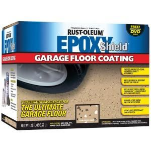 Rust Oleum Epoxyshield 1 Gal Semigloss 2 Part Epoxy Garage Floor Coating Kit 203006 At The Home Depot With Images Garage Floor Garage Floor Coatings Garage Floor Epoxy