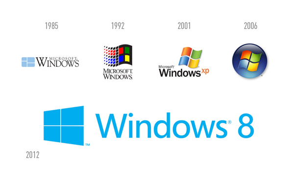 Windows 8 New Identity That Takes The Iconic Logo Back To Its Roots