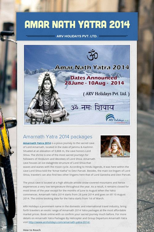 Amarnath Yatra 2014 Is A Pious Journey To The Sacred Cave