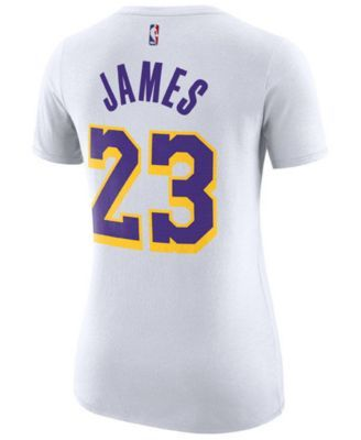 buy popular 3e349 3b263 Nike Women LeBron James Los Angeles Lakers Player T-Shirt in ...