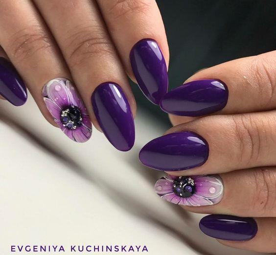 Paznokciowe Trendy Jesien Zima 2017 2018 Top 21 Modnych Inspiracji Ktore Musicie Poznac Purple Nail Art Purple Nails Nail Designs