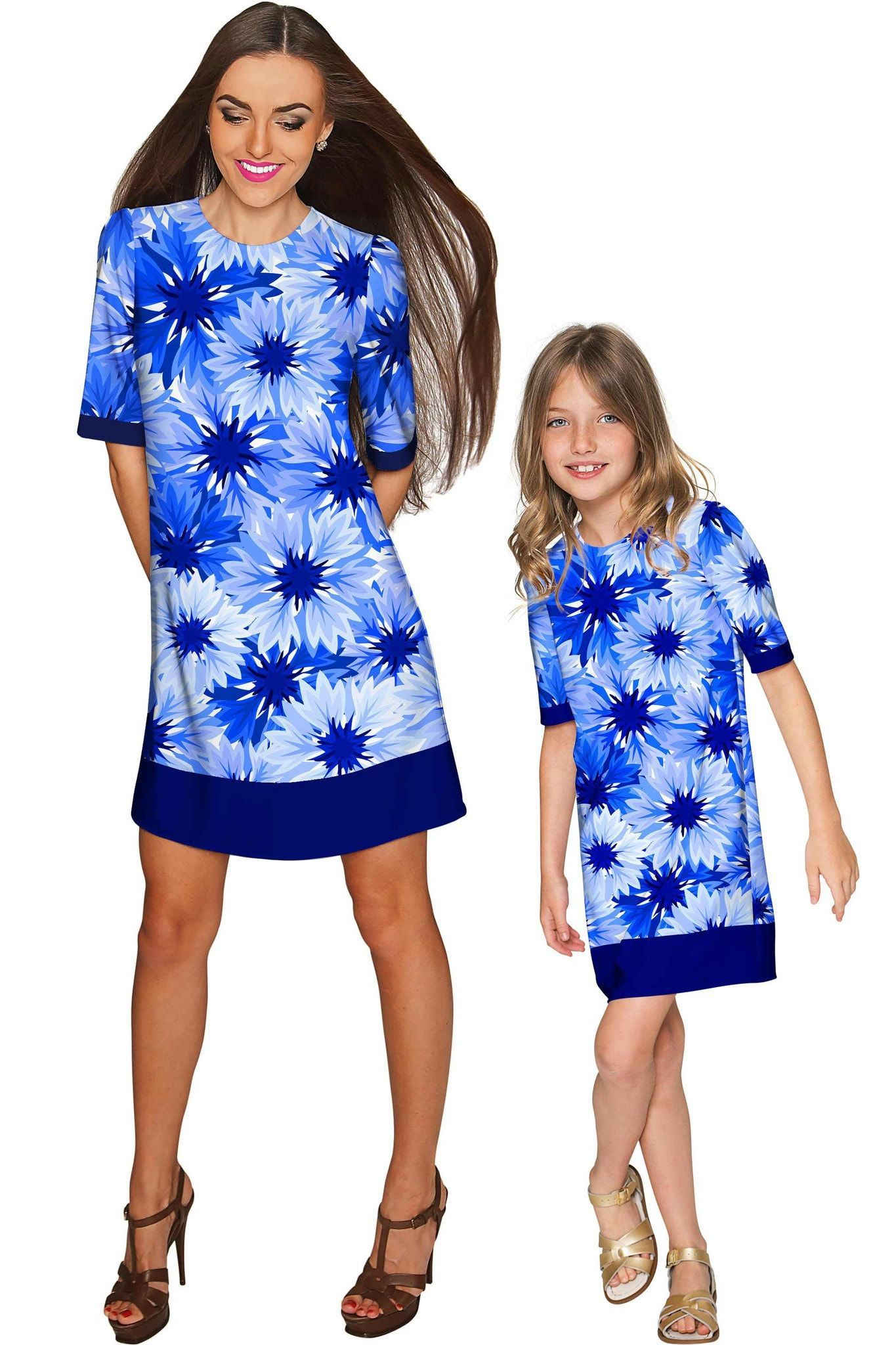 d07d80a11b Wild Bloom Grace Shift Floral Mommy and Me Dress