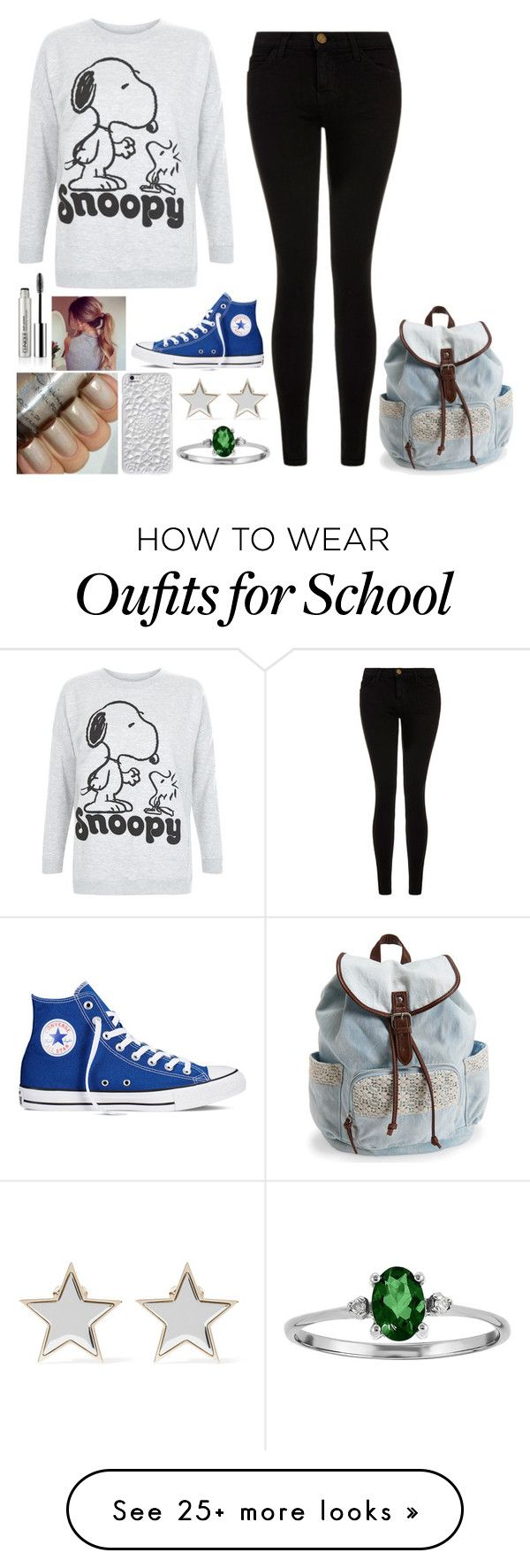 """""""Back To School Outfit"""" by horsewarrior on Polyvore featuring Current/Elliott, Converse, Aéropostale, Givenchy, Felony Case, Clinique, women's clothing, women, female and woman"""