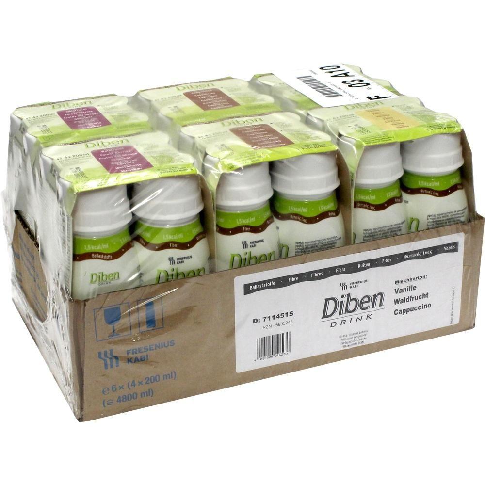 #DIBEN DRINK Mischkarton 1,5 kcal-ml rezeptfrei im Shop der pharma24 Apotheken