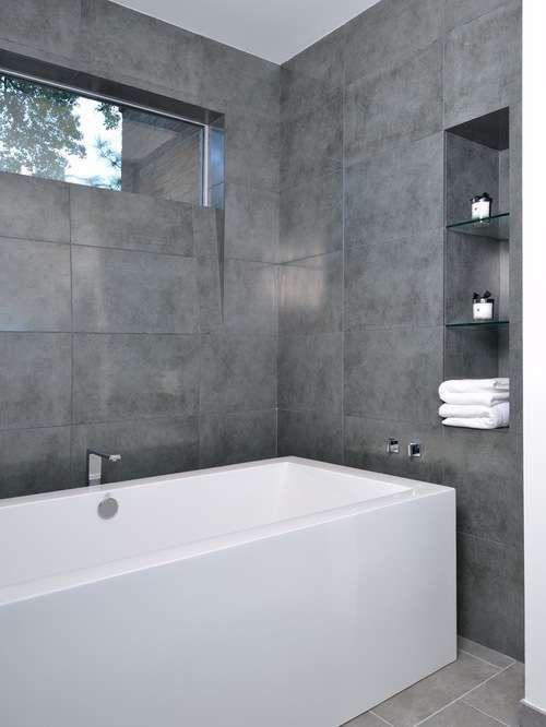 Come arredare il bagno con il grigio , Bagno grigio chiaro e scuro
