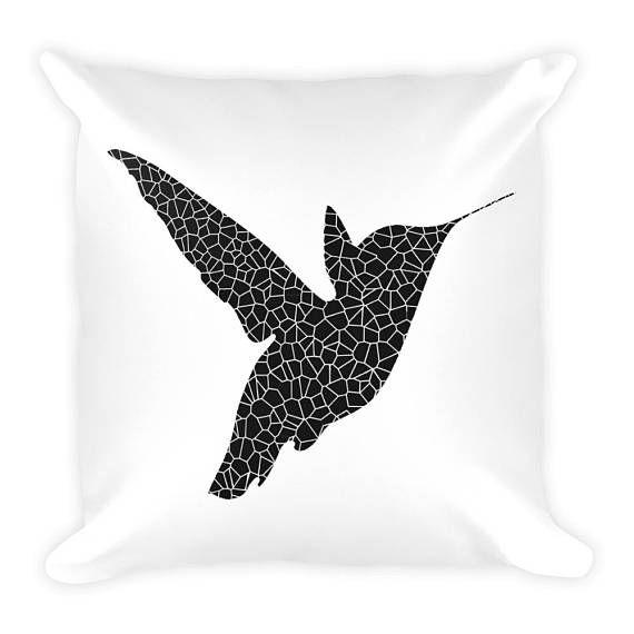 Hummingbird Pillow Hummingbird Home Decor Bird Pillow Throw