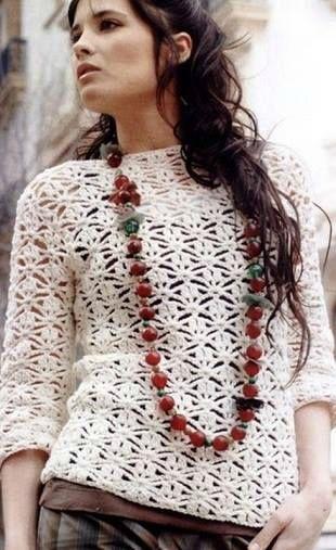 modele pull au crochet