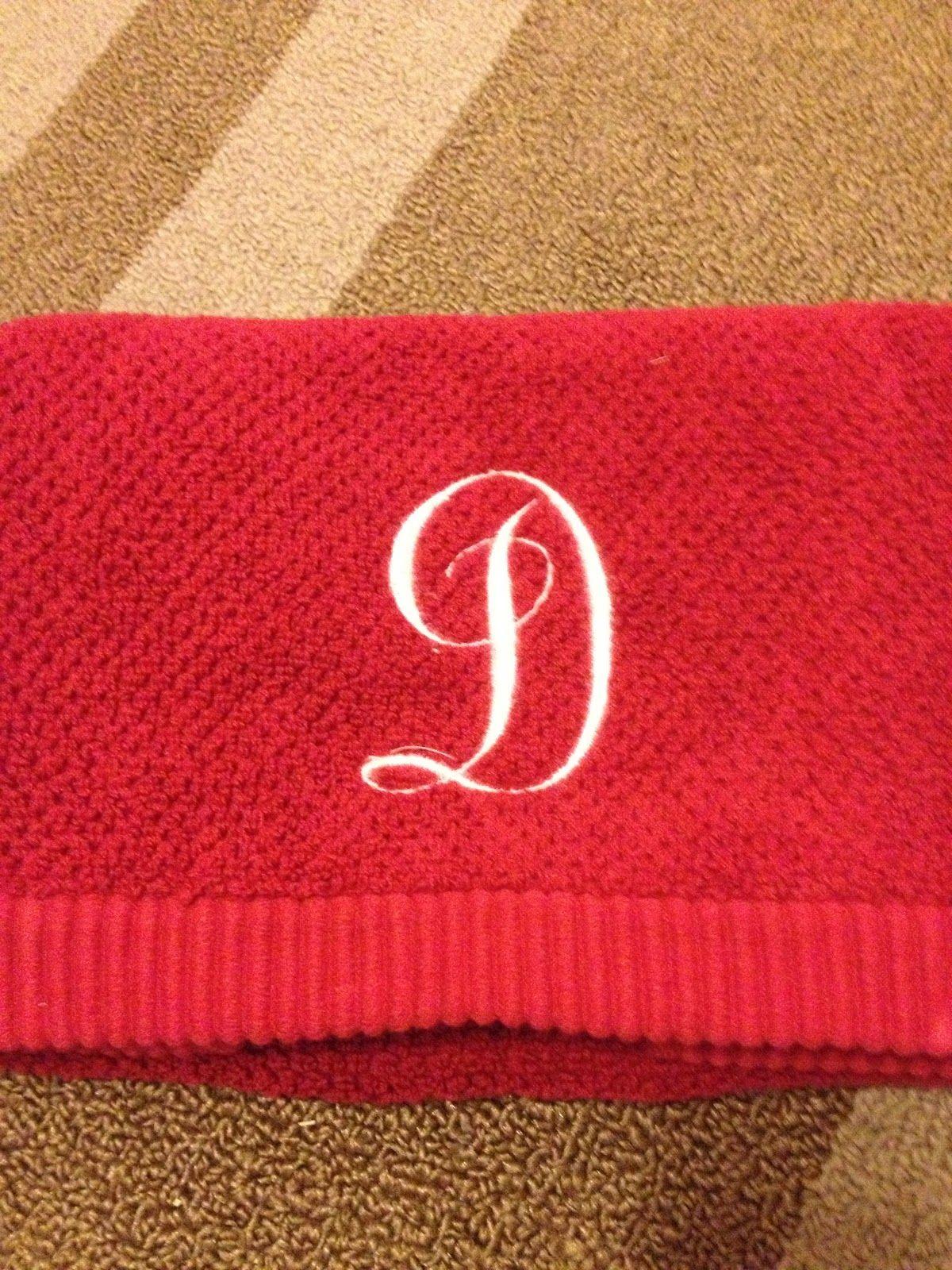 a4030cfb60 Single Initial towel | T Y P O G R A P H Y | Letter d, Lettering ...