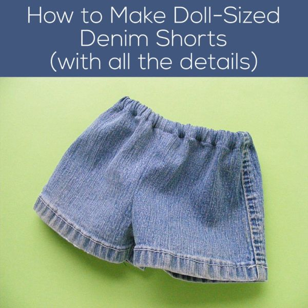 How to Make Denim Shorts for The Dress Up Bunch | Shiny Happy World