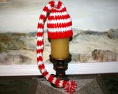 Santa hat  14inch Red and white candy cane baby elf hat