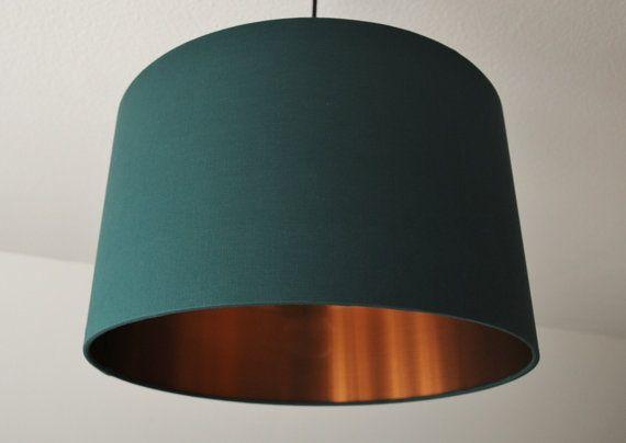 Dark Green Copper Lamp Shade