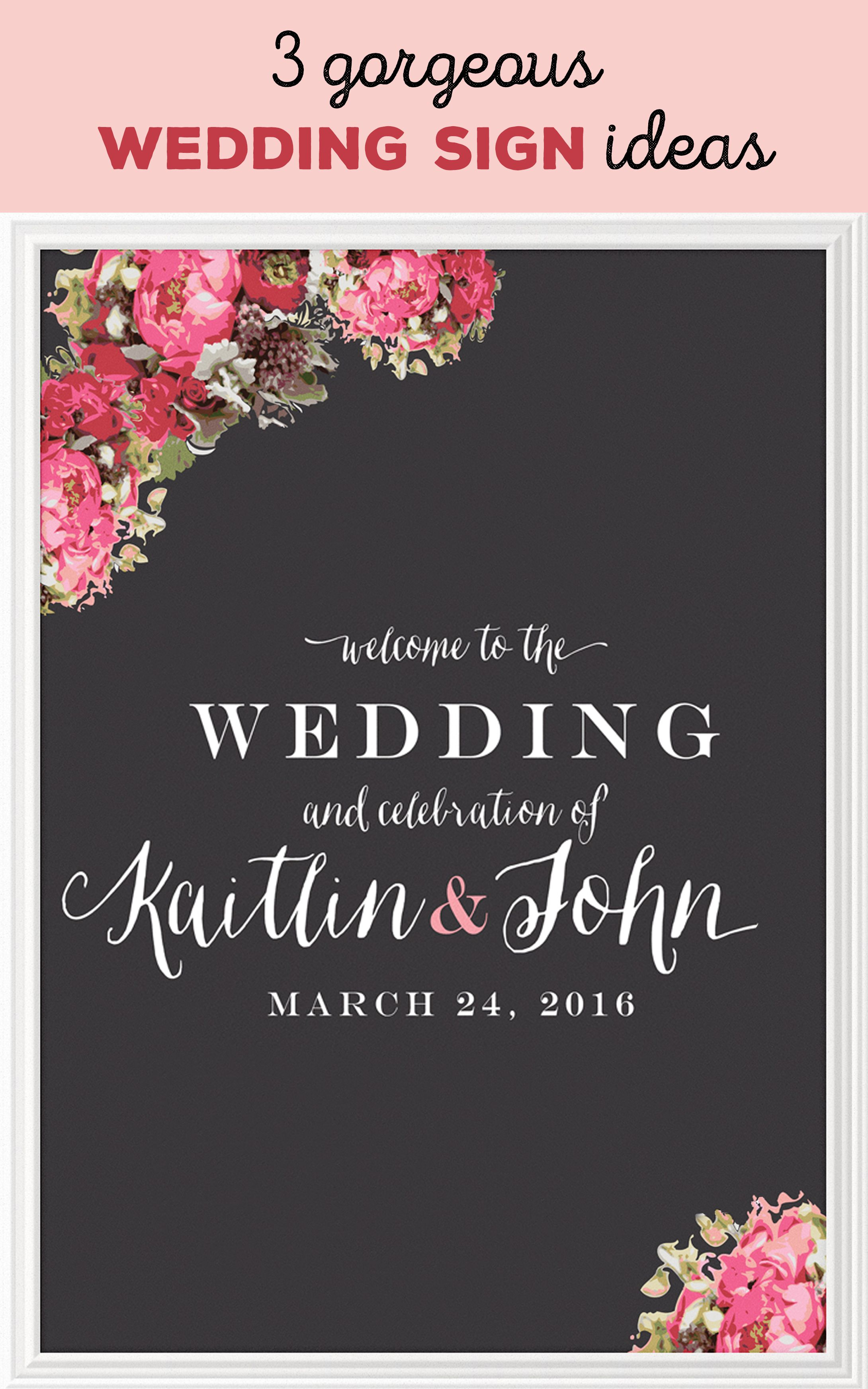 A Fl Motif Keeps Things Clic On This Wedding Sign Or Welcome Board While