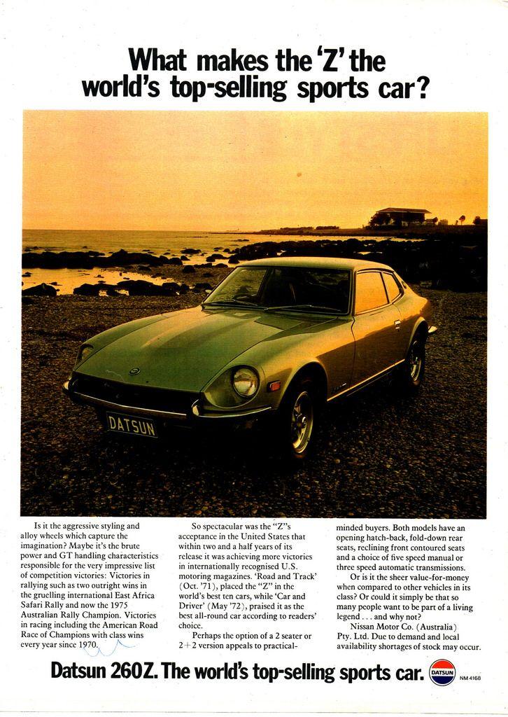 1975 Datsun 260Z 2 Seater & 2+2 Nissan Aussie Original ...