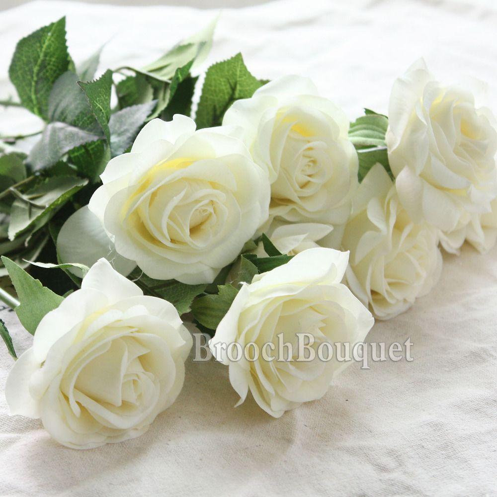 8 pz Tocco Reale Lattice Rosa Fiori Di Seta Artificiale Bouquet Da Sposa Damigella D'onore Ortensie Fiori Floreale Festa Nuziale Home Decor