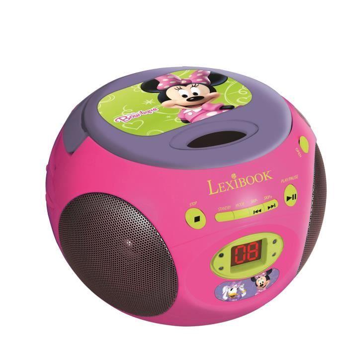 lexibook lecteur cd boombox minnie multim dia enfant. Black Bedroom Furniture Sets. Home Design Ideas