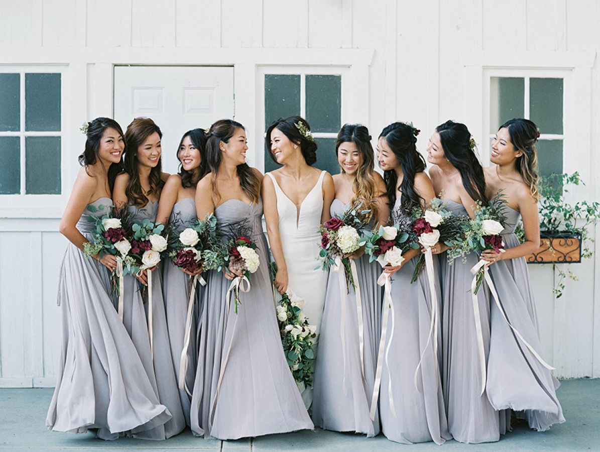 Gray Bridesmaid Dresses Color