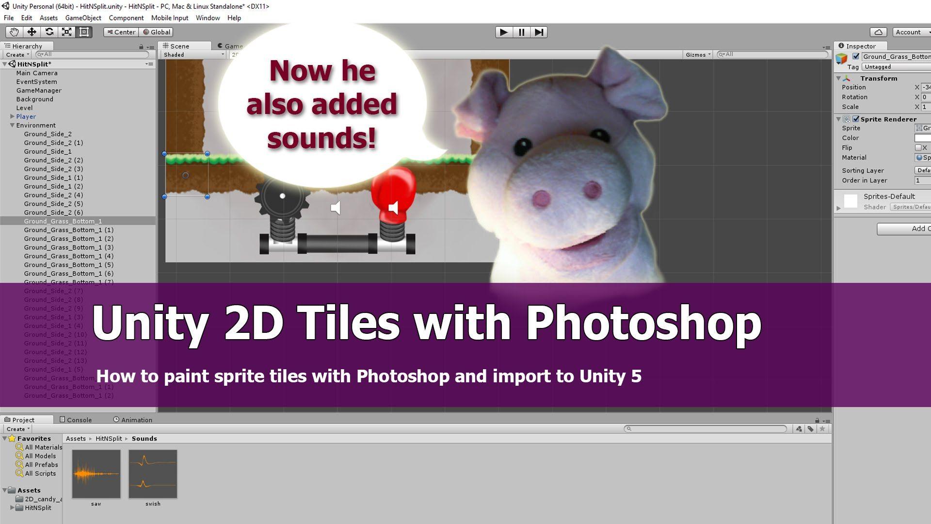 Unity 5 2D Sprite Tiles Tutorial | Neat Game Development Stuff