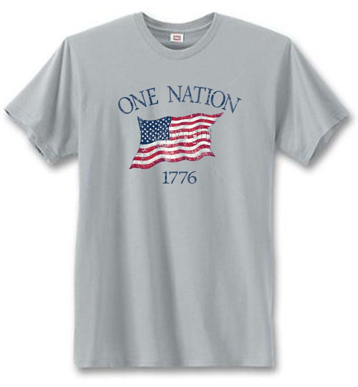 U.S. Custom Tees - One Nation 1776 T-Shirt, $12.50 (http://www.uscustomtees.com/one-nation-1776-t-shirt/)