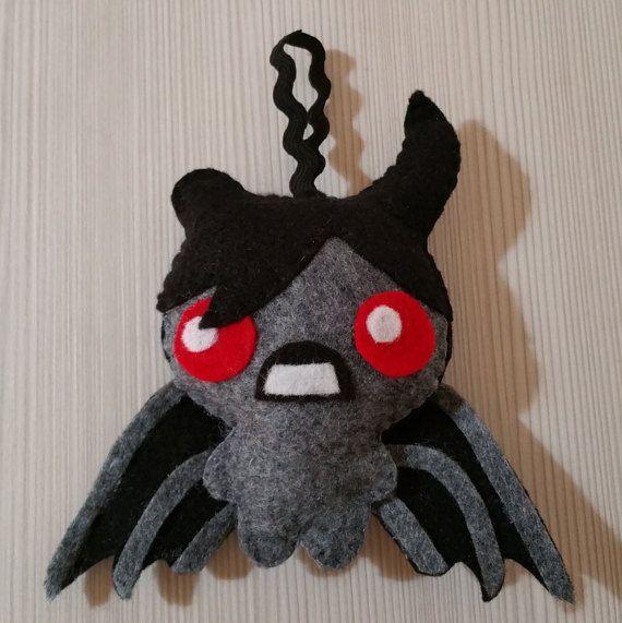 Felt handmade  mini plush Azazel  (unofficial) inspired by The binding of isaac, geeky toy, felt ornament, geek ornament, BOI
