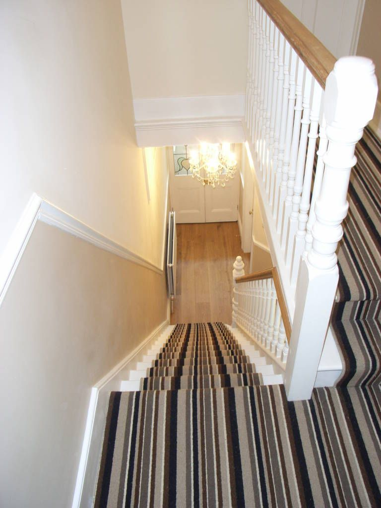 Striped Stair Carpet Runner Corridor Hallway By Style Within
