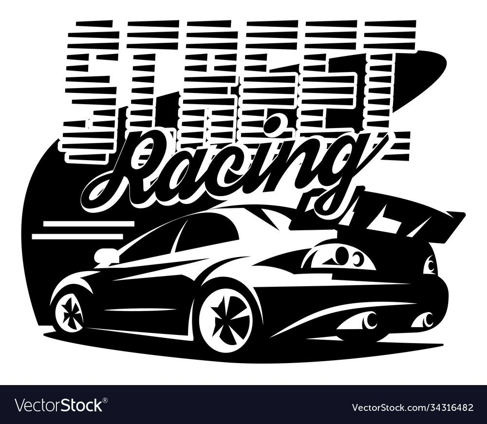 Street Racing Car Vector Monochrome Illustration Template For Design Download A Free Preview Or Hig Street Racing Cars Monochrome Illustration Street Racing [ 871 x 1000 Pixel ]