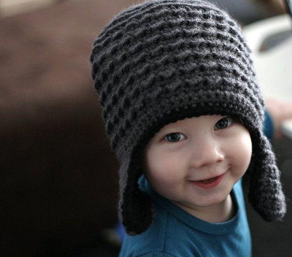 Best Selling Boy Hats, Fall & Winter Hats, Ear Flap Hats, Infant boy newborn Baby Hats - hand knitted and crochet, Boy earflap hats, Boy winter hats, Infant girl newborn baby hats - hand crochet and knitted, Girl earflap hats, Toddler Boy Hats, Toddler Girl Hats. Two Toned Crochet Baby Bear Hat.
