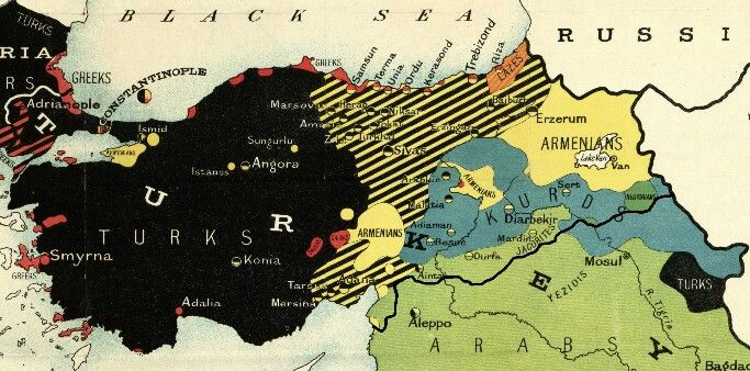 map of armenia and turkey A Map Of Turkey Back In 1914 Note That In Eastern Turkey Western map of armenia and turkey