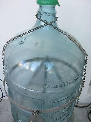 Vintage 5 Gallon Water Bottle Tilt Stand Cap Lustro Ware Crystal Gallon Water Bottle 5 Gallon Water Bottle Water Bottle