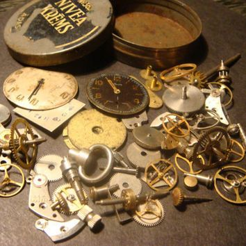 Steampunk Supplies -Watch Wheels,Gears, Watch Faces and MORE-Assemlage…
