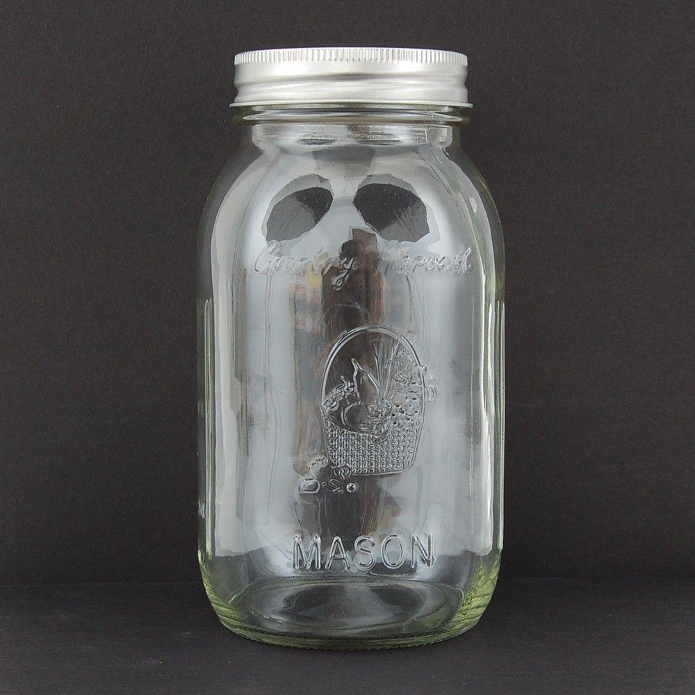 Mason Jar - 32oz- 1 Quart - 12ct