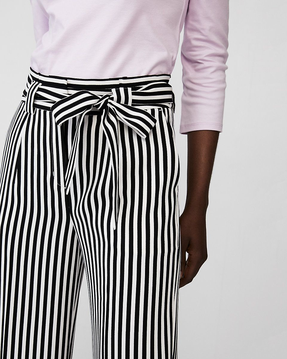 726ae2056aea Striped High Waisted Sash Tie Wide Leg Pant | Wish List