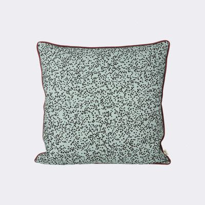 ferm LIVING Dottery Cotton Throw Pillow Color: Dusty Blue