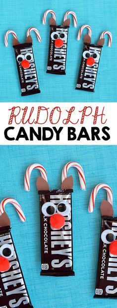 rudolph reindeer candy bars pinterest party favour ideas simple