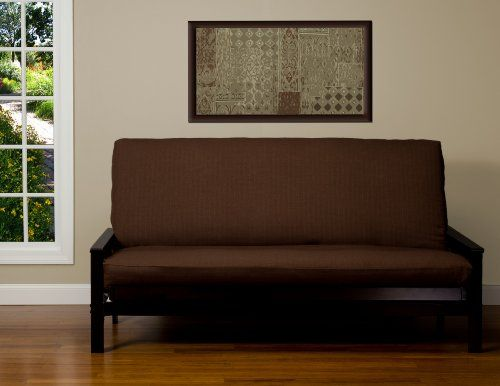 Sis Cover Linen Chocolate Futon Fabric Removable Only Frame