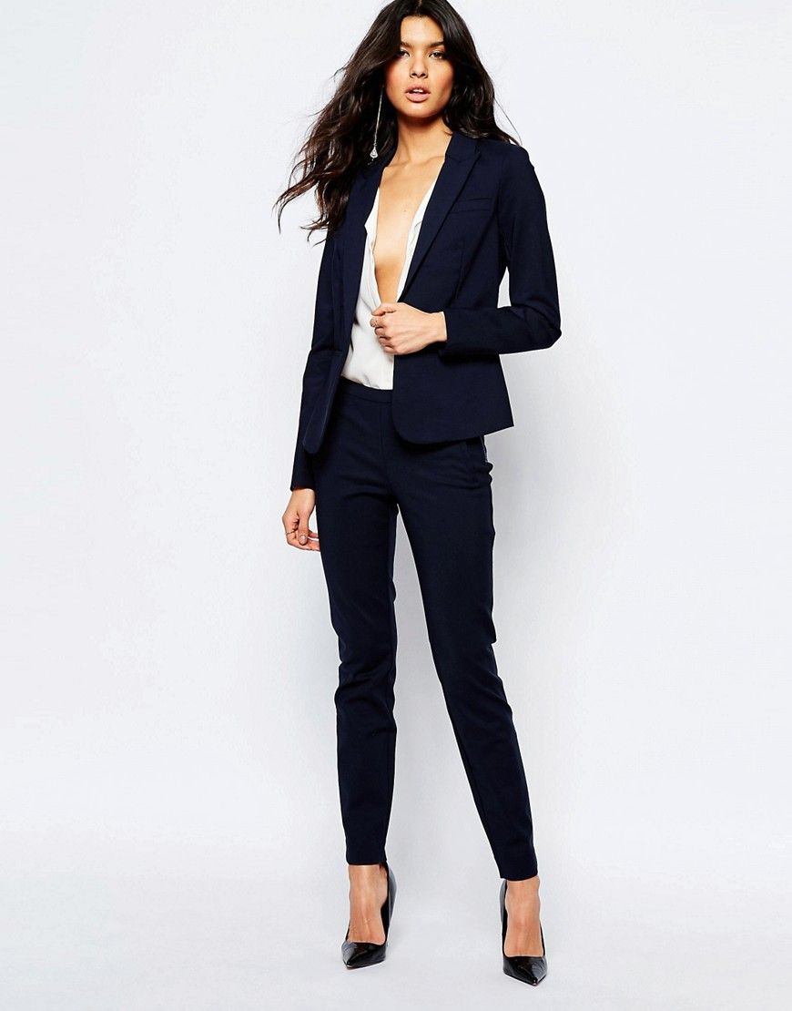Image 1 ofY.A.S Peyton Ecco Trousers in Navy