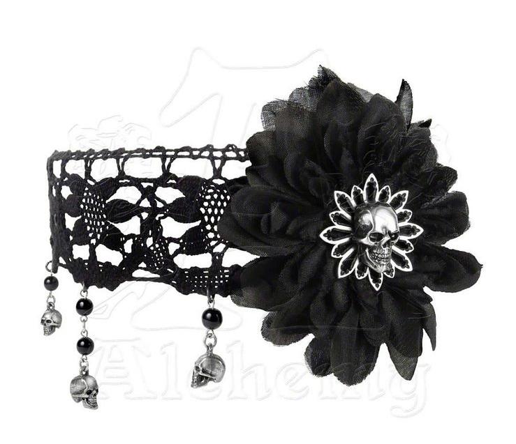 Black Dahlia Choker Alchemy gothic jewelry, Gothic